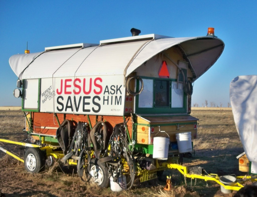 Randy Boehmer's rig JESUS Saves! Amarillo, TX March 3, 2013