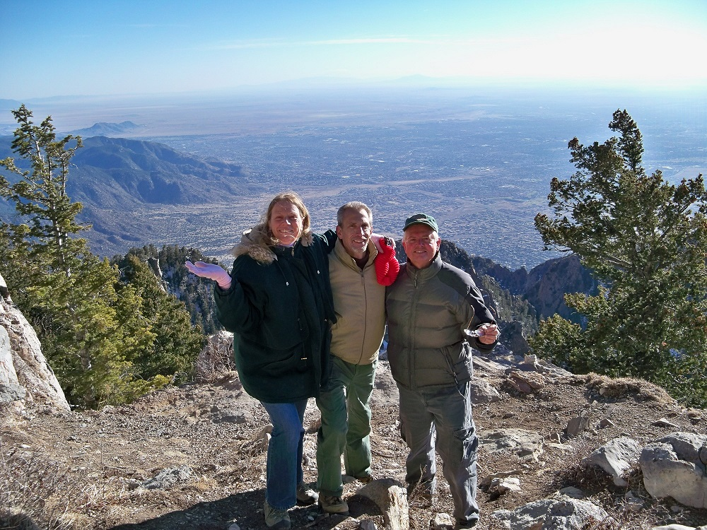 Meet Pager and Jenny from Santa Fe who I met on The Sandia Crest! We had a great time of fellowship and prayer on the heights! (17 degrees and high winds could not prevail against the praises of God's people)